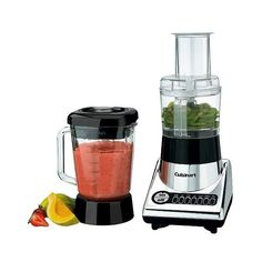 Cuisinart SmartPower Duet Blender/Food Processor ($74) ❤ liked on Polyvore featuring home, kitchen & dining, small appliances, soft steel, cuisinart, cuisinart food processor, colored jars, cuisinart food chopper and cuisinart blender