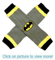 b476b83094cf KWC - Batman Black Yellow Silver Baby Leg Warmer (Super Hero) Baby Leg  Warmers