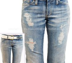 Used (Destroyed) Jeans Homemade