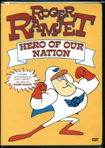 Roger Ramjet he's our man. Hero of our nation. When he packed his proton pill the crooks began to scatter. Old School Cartoons, Retro Cartoons, Old Cartoons, Classic Cartoons, Cartoon Crazy, Cartoon Tv, Childhood Tv Shows, My Childhood Memories, Old Tv Shows