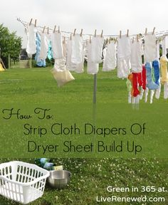 How to Strip Cloth Diapers of Dryer Sheet Build Up