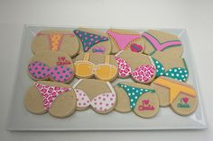 Lingerie Cookies (DIY) - Fun bra and thong cookies to have at a Bachelorette Party!