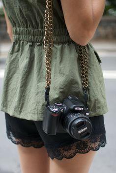 diy chain camera strap 2