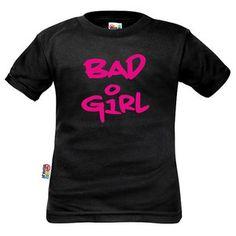 T-shirt enfant avec inscription : BAD GIRL