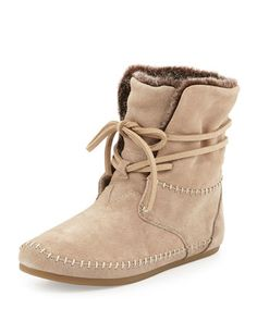 Zahara+Suede+Moc+Bootie,+Oxford+Tan+by+TOMS+at+Neiman+Marcus.