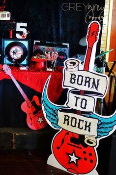 GreyGrey Designs: {My Parties} Born to Rock Party with @birthdayexpress