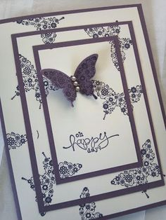 Oh Happy Day All Occasion Greeting Card Stampin Up by PaperLove2, $3.50