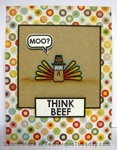 Think Beef Card.....  Love this!!!!