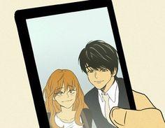 Yoo and Hong's selfie <3 like it! #cheeseinthetrap m.webtoons.com