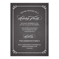 CLASSIC HOLIDAY VINTAGE   HOLIDAY PARTY INVITATION