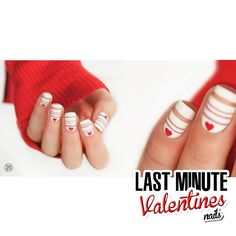 Last Minute Valentine's Day nails.