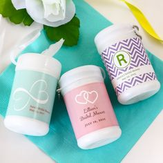 Personalized Mini Wet Wipes by Beau-coup