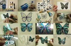 DIY Beautiful Butterfly from Plastic Bottle   iCreativeIdeas.com