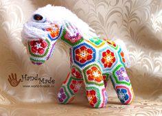 Horse crochet from motifs