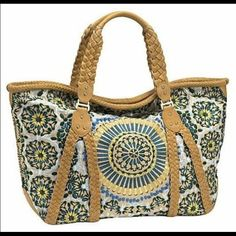 COLE HAAN Sierra Embroidery in great condition light markings inside nothing major Cole Haan Bags Satchels