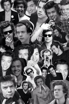 One Direction Tumblr Collage Black And White | www ...