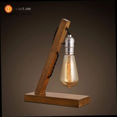 48.43$  Watch here - http://ali93i.worldwells.pw/go.php?t=32562415844 - Wood Read Table Lamp Wood Light  Vintage Industrial Lamp Bell Jar Study Lamp Lining Lamp Free Shipping