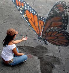 3d graffiti! Love it!