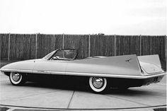 Dodge Dart concept car, prototype streamlined aerodynamic stylish retro jet fins tailfins