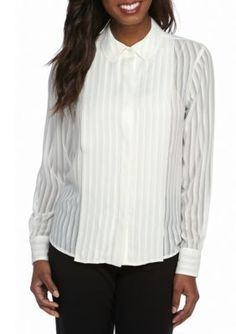 Tommy Hilfiger  Long Sleeve Striped Blouse