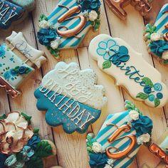 Sugar Cookie Icing, Royal Icing Cookies, Cake Cookies, Sugar Cookies, 13th Birthday Party Ideas For Girls, 13th Birthday Parties, 50th Birthday, Fancy Cupcakes, Fancy Cookies