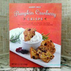 Trader Joe's Pumpkin Cranberry Crisps 5.3 ounce box  $3.99 トレーダージョーズ パンプキンクランベリー クリスプ