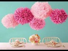 balão pompom bola flores papel seda festas decoração 15 cm