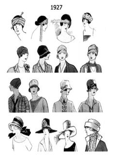 Hats & hair from 1927!
