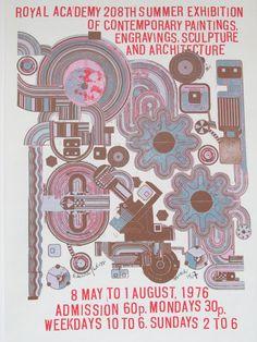 Original Vintage 1976 Royal Academy Summer Exhibition by HodesH