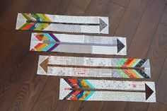 Grace and Favour: ARROWS---A HOW TO.  Arrow quilt block tutorial