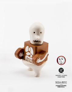 Fortune Skull - Memento Mori Toy, 2013, Porcelain and Wood