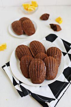 Chocolate & Orange Madeleine Cookies