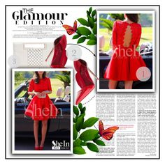 """""""Red dress from Shein"""" by pinki1994 ❤ liked on Polyvore featuring Sheinside"""