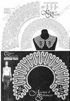 crochet bruges collar