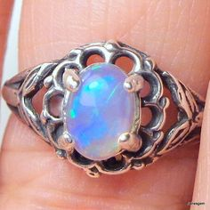 Hey, I found this really awesome Etsy listing at https://www.etsy.com/listing/234508016/welo-opal-ring-new-antiqued-sterling