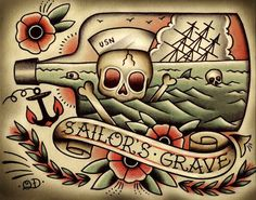 ... 00: Tattoo Ideas Traditional Tattoos Tattoo Flash Tattoo'S Sailors