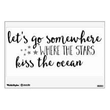 Go Where the Ocean Meets the Stars Wall Decal