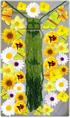 Corbatin en tonos de verde by Tupi'na Bijoux, via Flickr