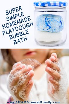 Save money over the expensive store bought play dough bubble baths with this homemade playdough bubble bath recipe. This bath time and water friendly play dough recipe will have Bubble Bath Homemade, Homemade Bubbles, Easy Diy Crafts, Diy Crafts For Kids, Bath Bomb Recipes, Homemade Playdough, Thing 1, Dough Recipe, 3 Ingredients
