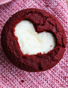 Heart Cutout Valentine's Day Cupcake Ideas, 2014 Red Velvet Cupcakes, Valentines Day Food Ideas
