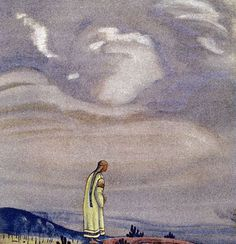 By the Edge, 1915 by Nicholas Roerich. Art Nouveau (Modern). genre painting