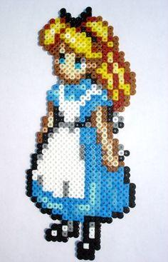 Alice perler bead design