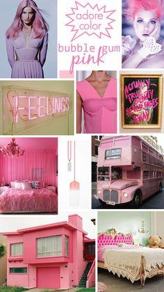 Bubble Gum Pink mood board!