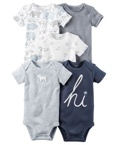 Baby Boy 5-Pack Short-Sleeve Original Bodysuits | Carters.com