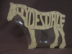 Hey, I found this really awesome Etsy listing at https://www.etsy.com/listing/9532323/clydesdale-draft-horse-puzzle-wooden-toy