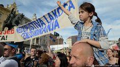 Kroaten demonstrieren in Zagreb für Bildungsreform (Foto: picture-alliance)