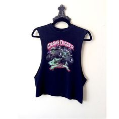 """Vintage Muscle Tank Tee Super punk muscle tee. Reads """"grave digger since 1982."""" Would best fit a size Sm. LF Tops Tees - Short Sleeve"""