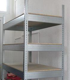 Rafturi metalice pentru camara Bookcase, Shelves, Metal, Usa, Home Decor, Shelving, Decoration Home, Room Decor, Book Shelves
