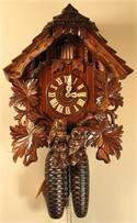Romach und Haas Cuckoo Clock 8 Day Movement Owls