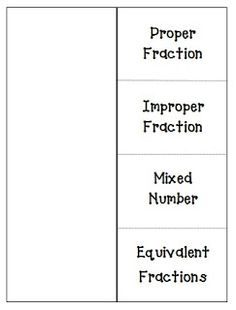 Here's a foldable template on types of fractions.